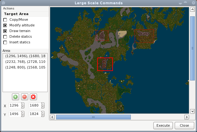 Centred Largescale Ultima Online World